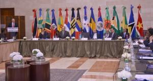 Ministros de diferentes países que participan en la reunión. [Foto: Cancillería].