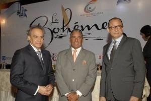 José Antonio Molina, Niní Cáffaro y José Antonio Rodríguez, desde la izquierda, en el encuentro con la prensa.