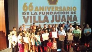 Villa Juana reunió a un grupo de jóvenes, hombres y mujeres para celebrar juntos los 66 años de la emblemática barriada capitalina.