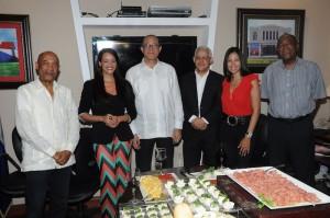 Desde la izquierda, Carlos T. Martínez, Wanda Sánchez, José Antonio Rodríguez, José Antonio Aybar y J. Eduardo Martínez.