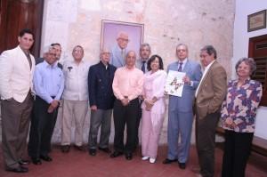 Escritores, historiadores y directivos de la Sociedad Dominicana de Bibliófilos.