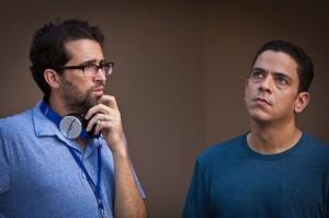 A la izquierda, el director de la película, Francisco Valdez, junto al actor Luis José Germán.