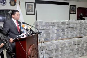 Miguel Medina, portavoz de la DNCD, ofreció los detalles del último operación de la entidad.