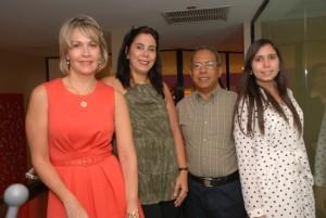 Desde la izquierda, Katherine Castillo, Rosina Guerrero, Jose Tejada Gomez y Maria Alejandra de Peña.