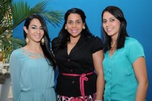 Michelle Victoria, Glenis Veras y Marjorie Quesada.