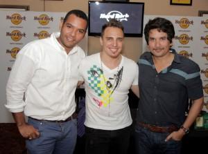 Desde la izquierda, Raúl Suncar, Jaime Viñas y Jorge Villamizar.