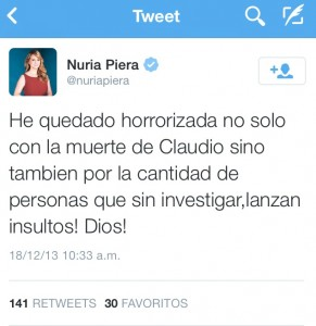 Nuria Piera tuit Dic 18 2013