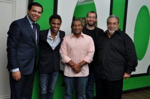 Desde la izquierda, Roberto Ángel Salcedo, Fausto Mata, Manolo Ozuna, Carlos Sánchez y Anthony Ríos. [Crédito de imagen: Reynaldo Brito]