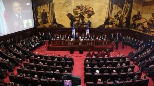 Senadores, diputados, autoridades civiles y militares, miembros del cuerpo diplomático acreditado en el país e invitados especiales. [Crédito de imagen: Luis Ruiz Tito/Presidencia]