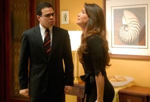 """Una escena de """"Mi novia está de madre"""", primer filme dirigido por Archie López, protagonizado por Roberto Ángel Salcedo y Paty Manterola."""