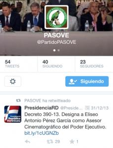 PASOVE imagen twitter May 2014