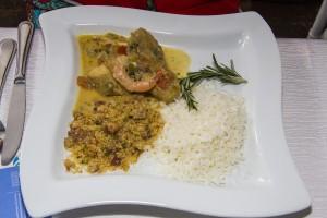 Uno de los platos típicos de la noche.
