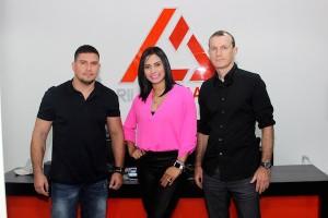 Desde la izquierda, Rodrigo Franca, Scarla Gross y Rilion Gracie.