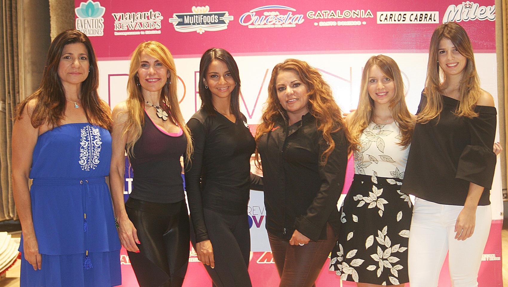 Luisa Feliz, Aileen Khoury, Leisy García, Chef Lala, Carla Báez y Alexandra Chotin.