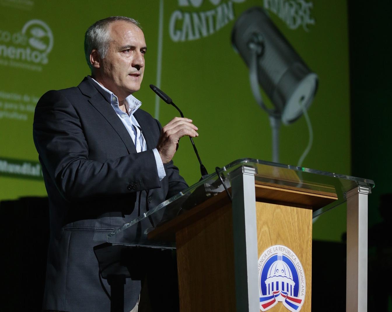 Carmelo Gallardo, representante de la FAO en República Dominicana.
